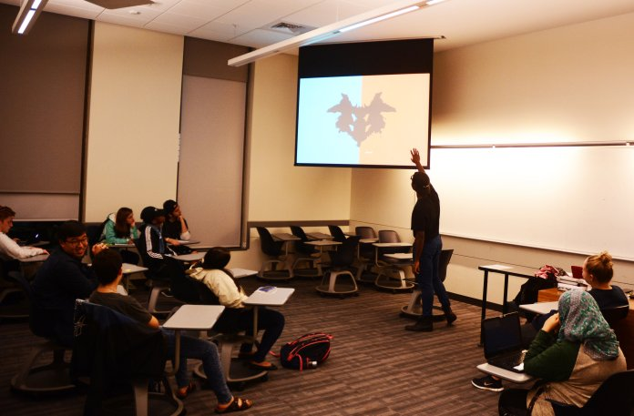 Honors for Diversity holds a lecture on personality at Oak Hall on October 2, 2018. The talk covered personality tests, traits and differences. (Judah Shingleton/ The Daily Campus)
