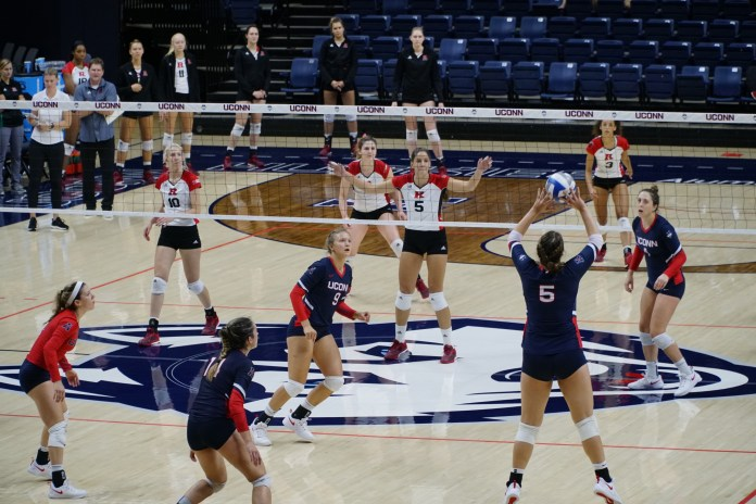 UConn Volleyball has a pair of American conference games against ECU and Cincinnati this weekend (Eric Wang/The Daily Campus)