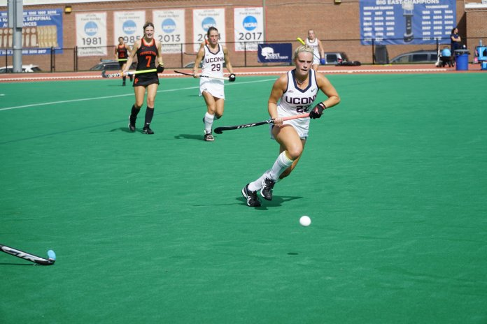 The UConn Huskies took their second loss of the season 2-5 against Princeton on Sunday. They look to bounce back in their next home game next Friday, 10/12 against Villanova (Eric Wang/The Daily Campus)