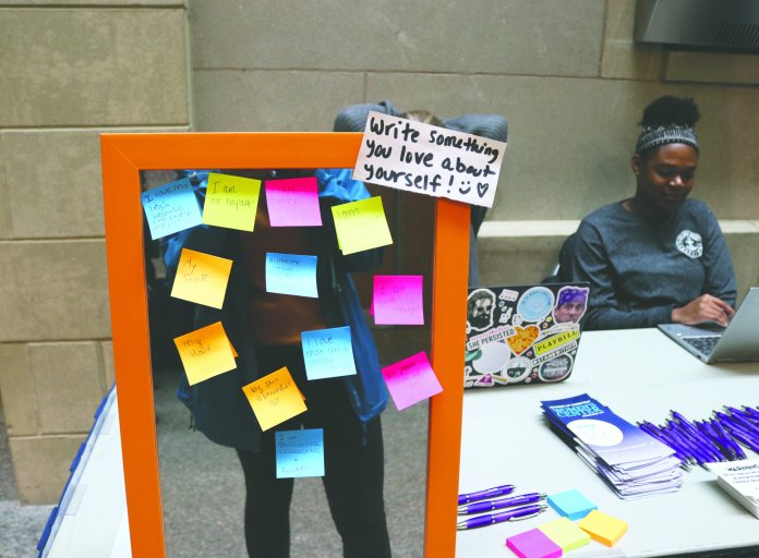 The Women's Center hopes to get students in a positive mindset about their bodies and spread positivity around body image. (Maggie Chafouleas/The Daily Campus)