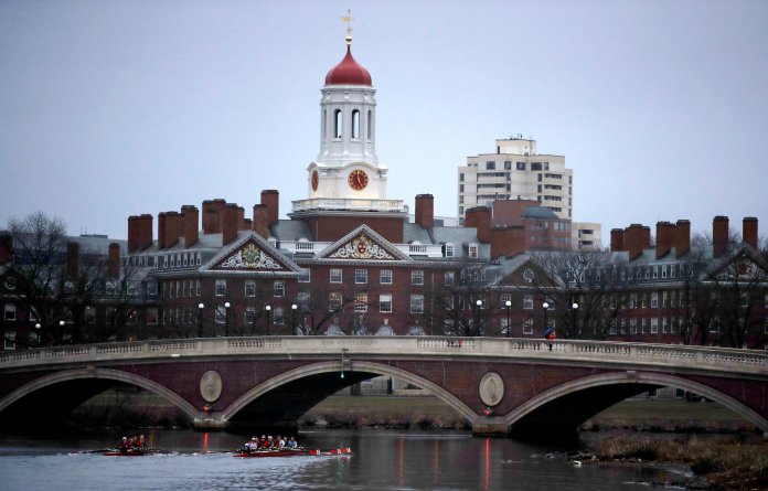 A lawsuit alleging racial discrimination against Asian American applicants in Harvard's admissions process is heading to trial in Boston's federal court. (AP Photo/Charles Krupa, File)