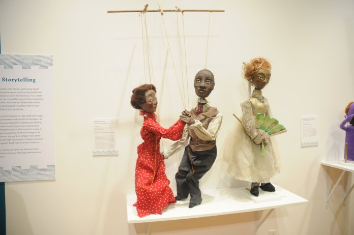 """The Ballard holds a reception for their new exhibit """"Living Objects: African American Puppetry"""". It showcases work by African-American puppeteers whom have often been overlooked within the last century.10/25/18 New Ballard Exhibit by Brandon Barzola. (Photo by Brandon Barzola/The Daily Campus)"""