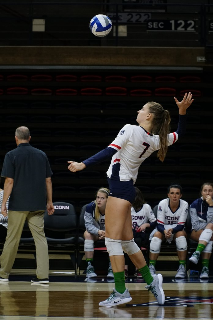 Freshman Anna Petrova has had to make several adjustments during her first year at UConn. Photo by Eric Wang/The Daily Campus
