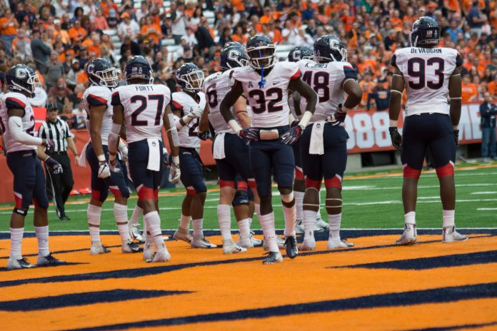 UConn' Football's season came to an end on Saturday. The Huskies lost every game against FBS competition this season, including a trip to Syracuse in September. (Eric Wang/ The Daily Campus)