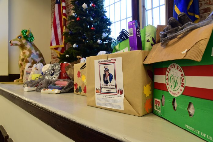 The sixth annual Care Package Drive for Veterans is looking for items to be donated including new clothing and food. The donation box is located on the first floor of the Family Studies building from now until Dec. 7. (Photo by Kush Kumar/The Daily Campus)
