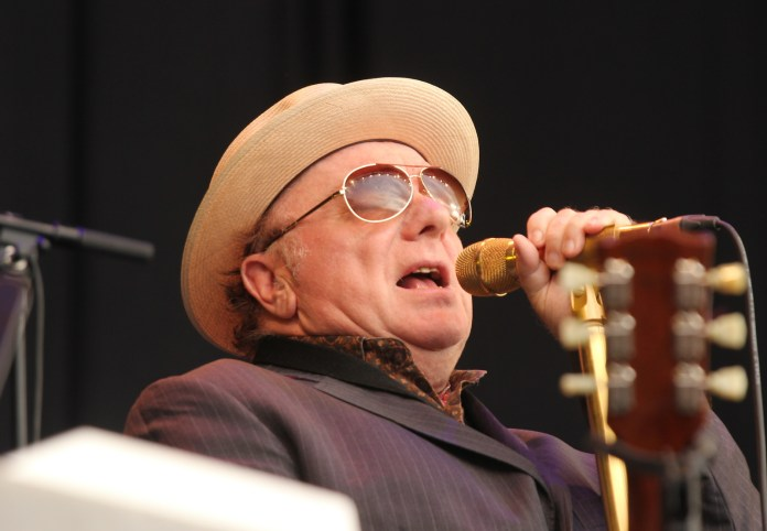 Van Morrison sings at Notodden Blues Festival in 2013 in Norway. (Photo courtesy of WikiMedia Commons).
