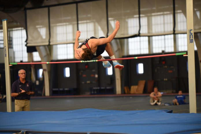 The UConn men's track and field team traveled to the University of Rhode Island over the final weekend of winter break to compete in the Sorlien Invitational. (Charlotte Lao/The Daily Campus)