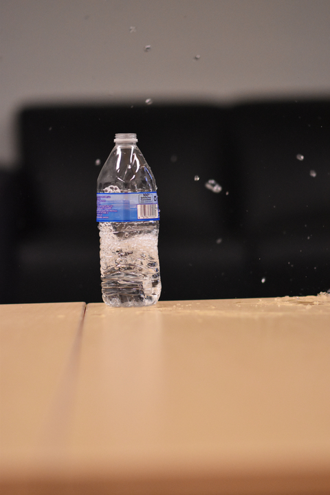 Bottled water is conveniently ready to drink out of the bottle, but how valuable is that convenience when one considers how wasteful it is? (Kevin Lindstrom/The Daily Campus)
