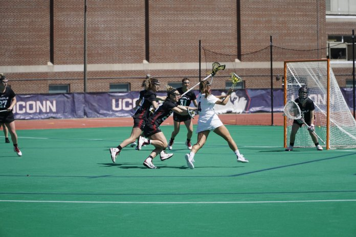 UConn women's lacrosse put up a fight in their recent conference match against the Temple Owls. (File photo/The Daily Campus)