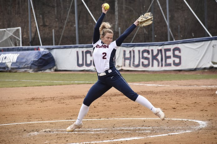 UConn Softball lost 4-5 against Boston College. This leaves them at 15-21 for the season. (Photo by Brandon Barzola/The Daily Campus)