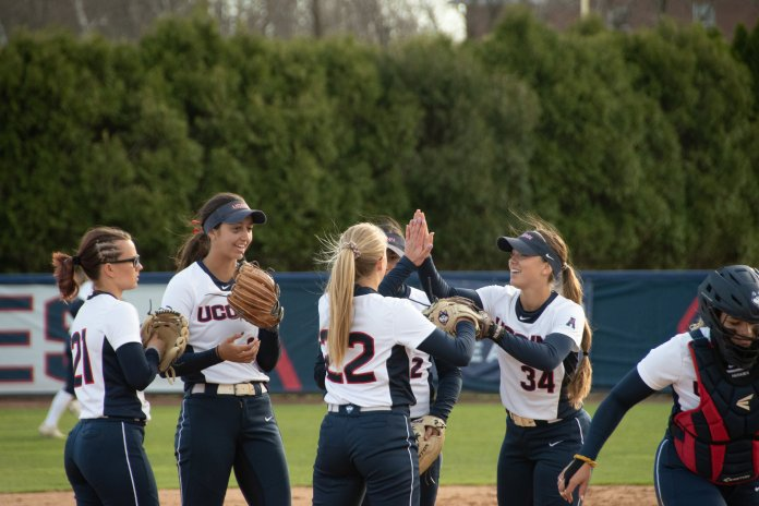 UConn Softball wins 6-0 in home game with Central Connecticut, bringing their overall score to 16-24 this season. (Photo by Avery Bikerman/The Daily Campus)