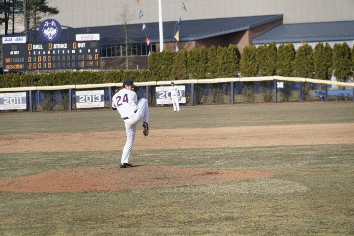 Caleb Wurster came up big for the Huskies on Wednesday afternoon. File Photo/The Daily Campus