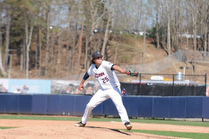 UConn baseball looks to defeat its in-state rival CCSU this upcoming week kicking off a crucial seven-game homestand  (Photo by Nicole Jain/The Daily Campus)