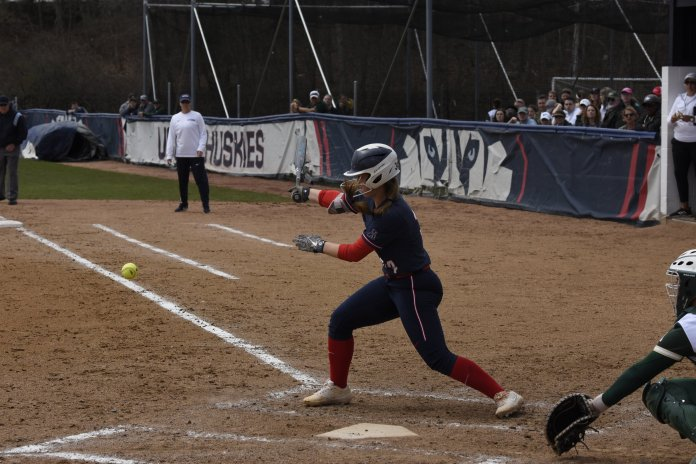 UConn softball looks to defeat in-state rival Quinnipiac this Tuesday (Photo by Brandon Barzola/The Daily Campus)