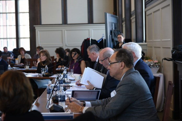 The Board of Trustees mets on January 30 at Wilbur Cross North Reading room to discuss the future plans for the budget.  Photo by Charlotte Lao / The Daily Campus