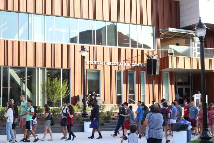 Not all students are fans of the new Rec Center.  Photo by Maggie Chafouleas / The Daily Campus