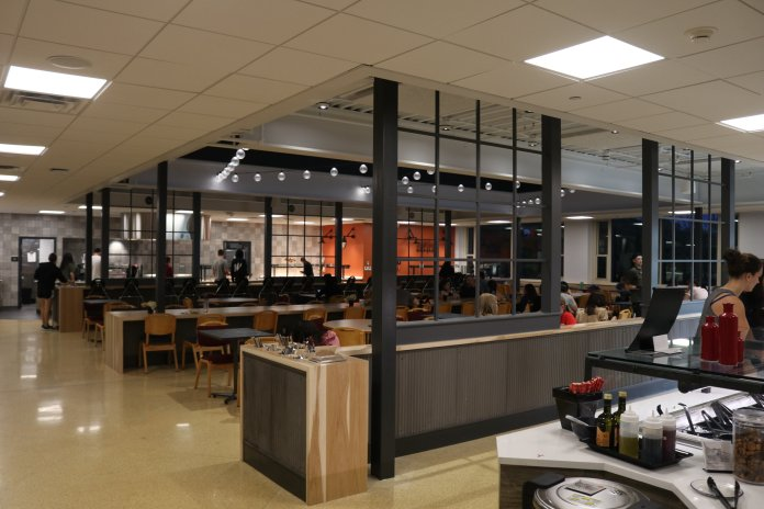 Whitney Dining Hall reopens after renovations.   Photo by Judah Shingleton, Senior Photographer/The Daily Campus