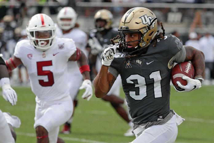No. 17 UCF remained undefeated after making easy work of Stanford last weekend. They are the team to beat in the American.  Photo from The Associated Press.