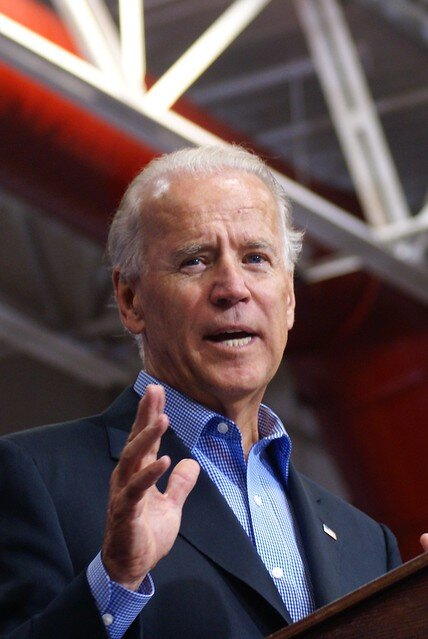 Joe Biden, projected national front-runner, received only four percent of votes among UConn students, putting to question his status in the race.  Photo from The Associated Press.
