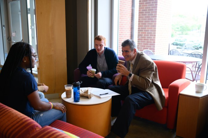 Katsouleas has been complimented endlessly for how he has treated his students so far and is truly seen as a friend as well as president.  Photo by Charlotte Lao / The Daily Campus