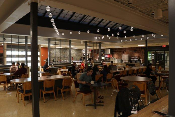 Students enjoy the new Whitney Dining Hall.    Photo by Judah Shingleton/The Daily Campus