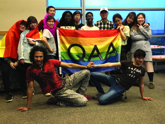 The UConn Queer Asians and Allies (QAA) club creates a place of belonging at the university.  Photo provided by the author.