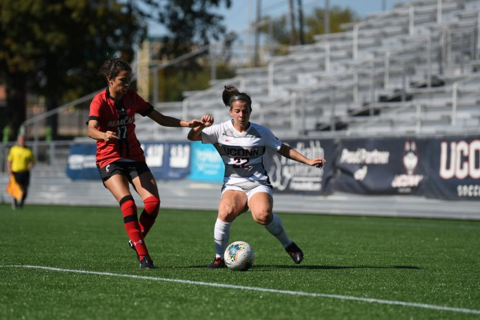The UConn women's soccer team was shut out for the third consecutive game in their 5-0 loss to No. 9 Memphis.  Photo by Eric Wang / The Daily Campus.