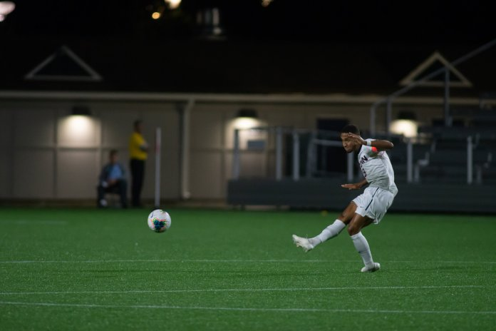 The UConn men's soccer game against Memphis is set for 3 p.m. Friday. The Huskies are desperately looking for a win to turn their season around.  Photo by Kevin Lindstrom / The Daily Campus