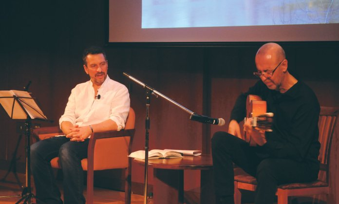 """UConn's very own Nicola Carpentieri and flamenco guitarist Oscar Herrero hosted """"Al-Andalus: A Musical Journey"""" on Monday evening in Konover Auditorium.  File Photo/The Daily Campus"""