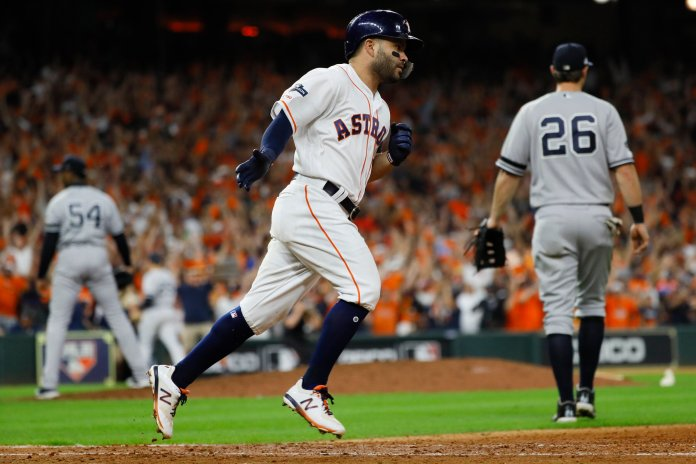 The first player to hit a series clinching homerun was fellow Astro Chris Burke. The Astros will take on the Nationals starting Tuesday.  Photo from the Associated Press.
