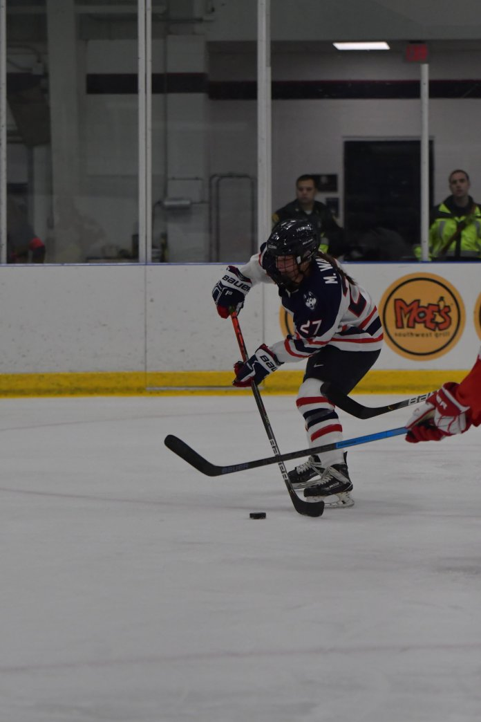 The UConn women's ice hockey team is set to compete in their first ever IceBreaker Tournament this weekend.  Photo by Kevin Lindstrom / The Daily Campus.