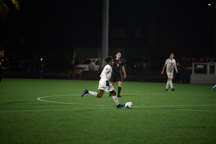 UConn men's soccer team hosts #11 seed UCF at Dillion Stadium. UCF scored their game winner just a few minutes in overtime.  Photo by Eric Yang/The Daily Campus
