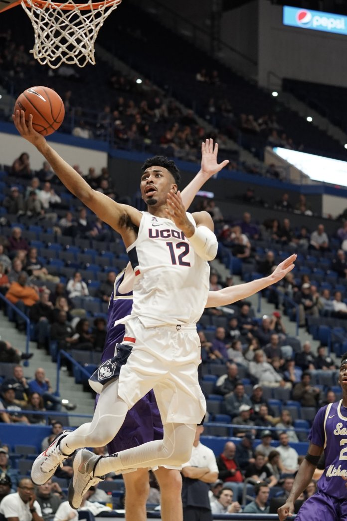 The Huskies played their first exhibition game of the season against Saint Michael's today at the XL Center with a final score of 103-64. Their next home game is on 11/8 against Sacred Heart University at Gampel Pavilion.  Photos by Eric Wang / The Daily Campus