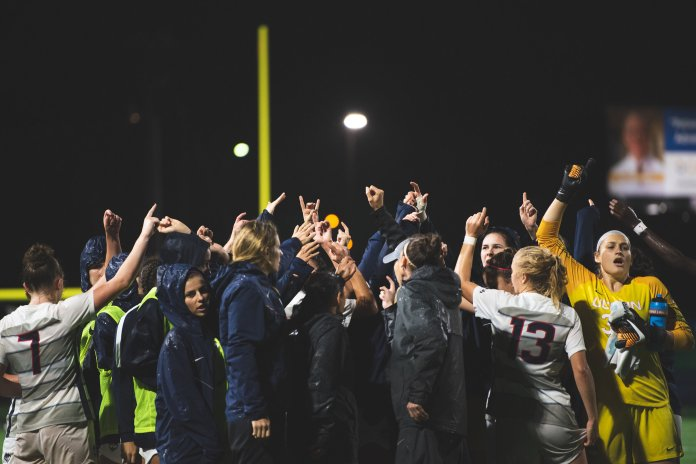 UConn Women's soccer host Temple University at Dillion Stadium for senior night. Photo by Eric Yang/The Daily Campus