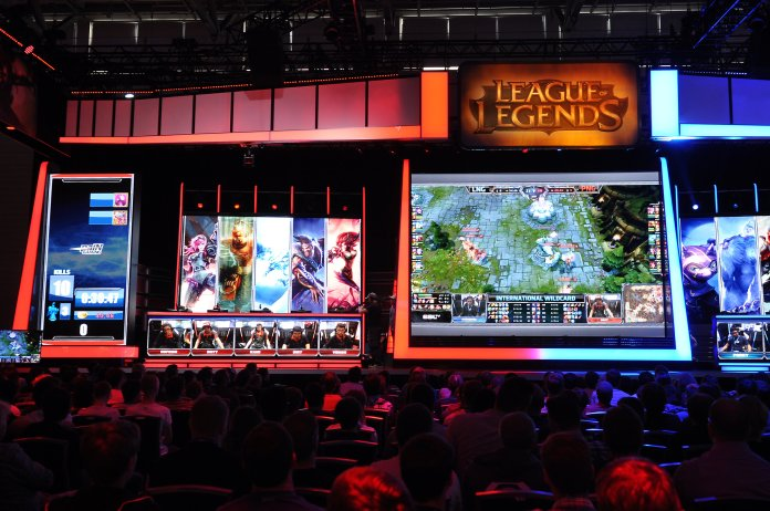 In a tightly contested semi-final, G2 came out on top against powerhouse SK Telecom while FunPlus bested Invictus Gaming to advance to the World Finals.  Photo by Marco Verch Professional Photographer and Speaker from Flickr Creative Commons.