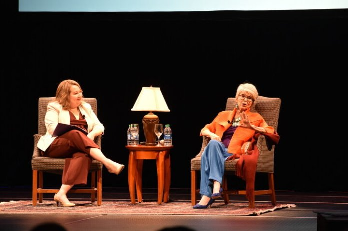 The Puerto Rican/Latin American Cultural Center (PRLACC) hosts EGOT winner Rita Moreno for an inspiring talk on Latinx representation in Hollywood.  Photo by Molly Potter / The Daily Campus