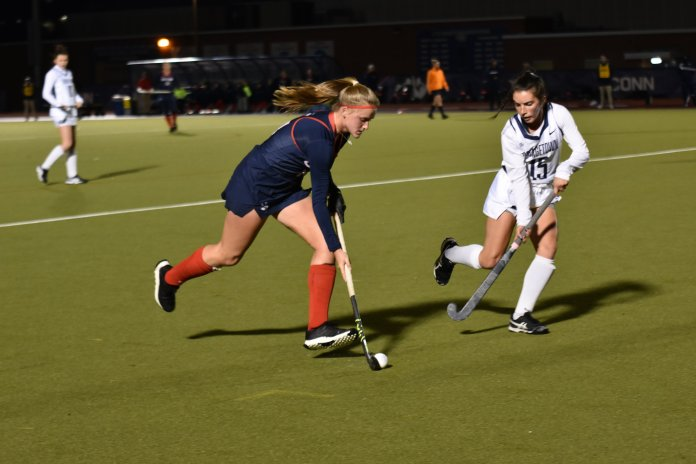 The Huskies are loaded with depth on their team, and should be more than ready to face off against Providence College in the semis.  Photo by Sofia Sawchuk /. The Daily Campus.