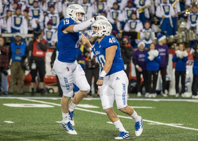 Tulsa made a surprise comeback against UCF to hand the Knights their third loss of the season and move to 3-7 on the year.  Photo from the Associated Press.
