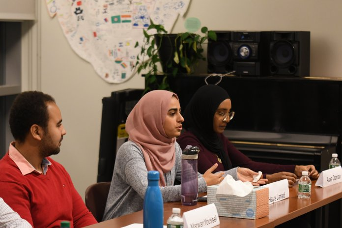 """AsACC's Salaam program presents a panel of UConn students who share their experiences fo being Muslim in America. The discussion, titled """"Demystifying What it Means to be Muslim in America,"""" gives insight into a life most Americans are unaware of.  Photos by Matthew Pickett / The Daily Campus."""
