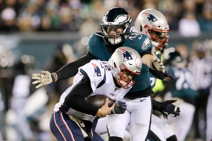 The Patriots continued to struggle against competitive teams with another close matchup against the Eagles. New England came out on top but it put together how they are going to fare as the season winds down with more competitive games.  Photo from the Associated Press.