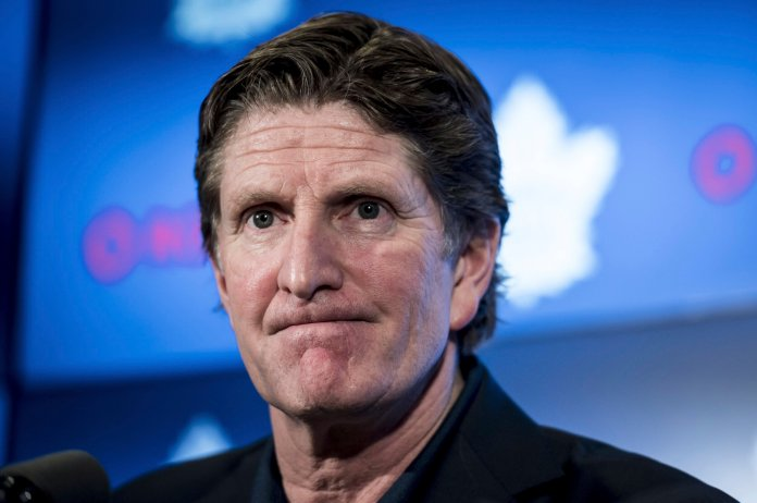 Toronto Maple Leafs head coach was fired after news came out that he forced rookie Mitch Marner to expose one of his teammates Photo from the Associated Press.