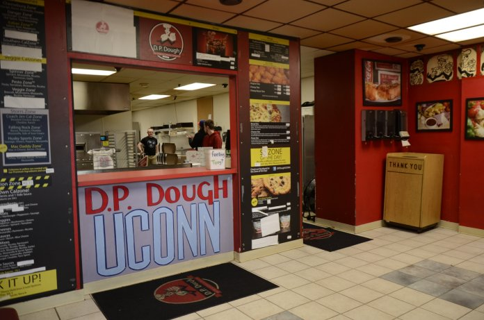 D.P Dough received a 93 on their May 23, 2019 inspection. D.P. Dough's owner and manager, Cory Hill, said that he takes annual classes and exams to make sure he is up-to-date on how to keep his restaurant up to code.  Photo by Charlotte Lao / The Daily Campus