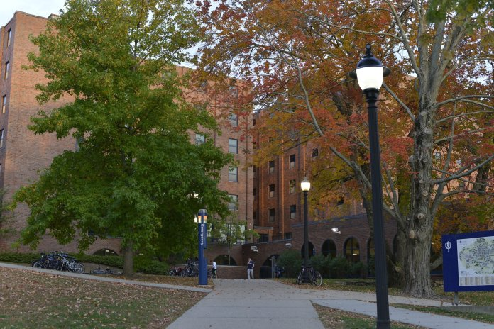 In the file photo, students enter and leave Thomas Buckley Hall.  File Photo/The Daily Campus