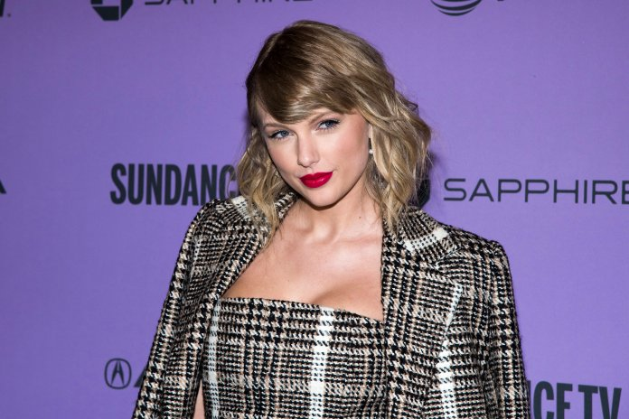 """Taylor Swift attends the premiere of """"Taylor Swift: Miss Americana"""" at the Eccles Theater during the 2020 Sundance Film Festival on Thursday, Jan. 23, 2020, in Park City, Utah. (Photo by Charles Sykes/Invision/AP)"""
