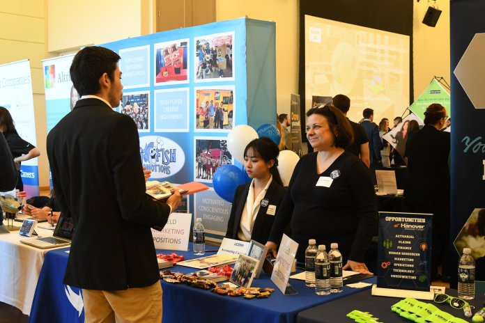 The Internship and Co-op fair will be held today from 11 a.m. to 3 p.m. in the Student Union ballroom where students will have the opportunity to talk to a variety of employers.    Photo by Charlotte Lao/The Daily Campus
