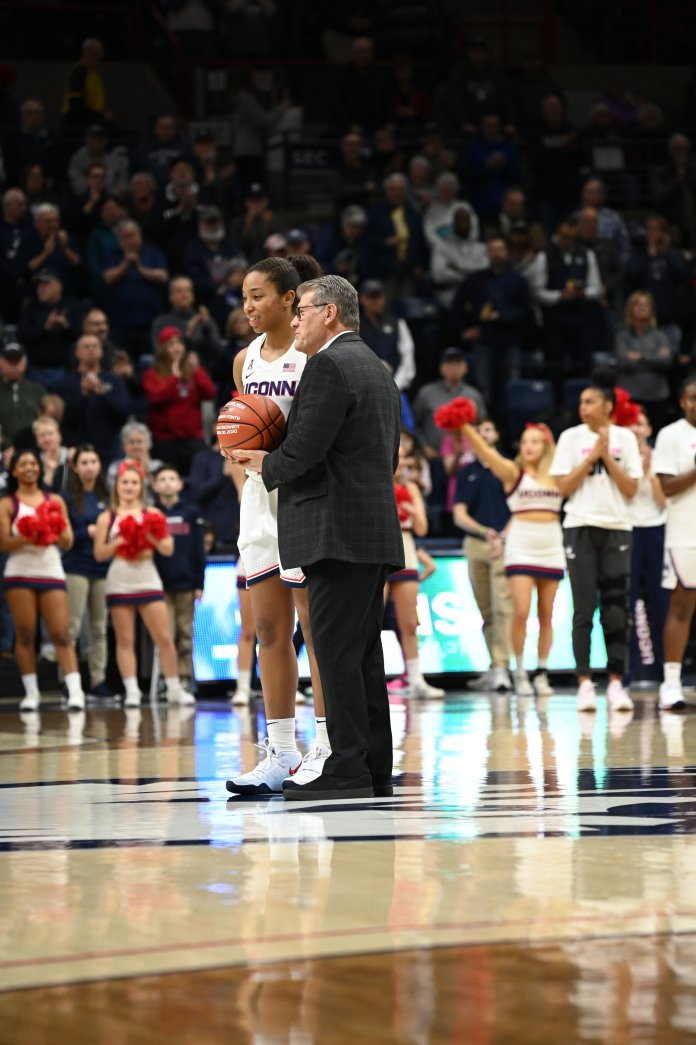 The Huskies put together another strong performance against conference opponent Memphis. They have another test coming up against No. 1 South Carolina Monday.  Photo by Kevin Lindstrom / The Daily Campus