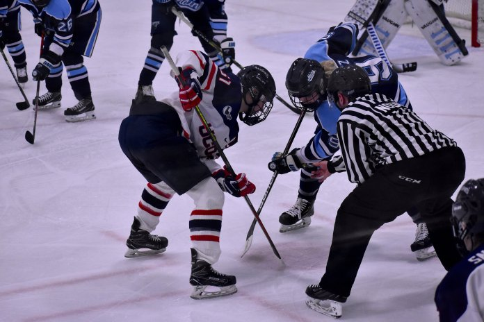 UConn women's hockey won both of their games against Vermont this weekend. After going winless against Northeastern and Providence, they are back in the win column.  Photo by Sofia Sawchuk / The Daily Campus.
