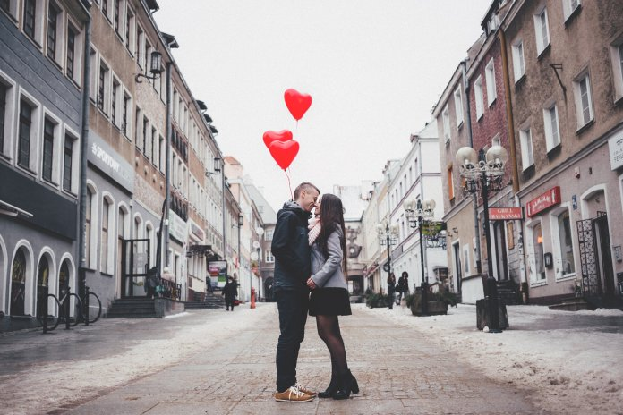 A photo of a couple on a date for Valentine's Day. There are plenty of date ideas for you and your significant other below. Photo by  freestocks.org  from  Pexels