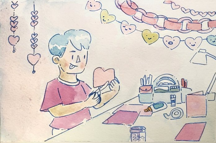 Creating a gift for someone special in your life is a great way to show them you care without having to buy one, and it doesn't have to be very complicated.  Illustration by Kaitlyn Tran.