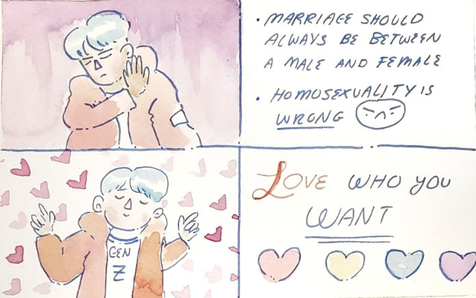 There's a shift in how the younger generation views marriage. We talk to Dr. Sylvia Schafer to find out what those factors are and what is causing the shift in cultural attitudes and ideas toward the institution.  Illustration by Kaitlyn Tran.